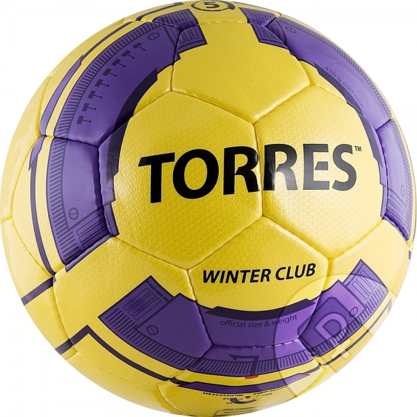 "Мяч футб. ""TORRES Winter Club YELLOW"", р.5,желто-ф"