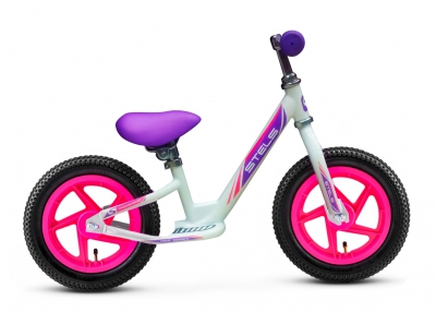 "Беговел Stels 12"" powerkid Girl белый"