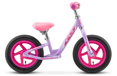 "Беговел Stels 12"" powerkid Girl розовый"